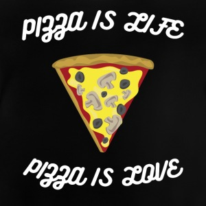 ♥ ♥ Pizza er Livet er kærlighed ♥ Pizza Fun T-shirt - Baby T-shirt