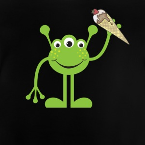 The sweet alien wants to share its strawberry ice cream - Baby T-Shirt
