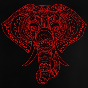 Elephant Head red - Baby-T-shirt