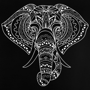 Elephant Head vit - Baby-T-shirt