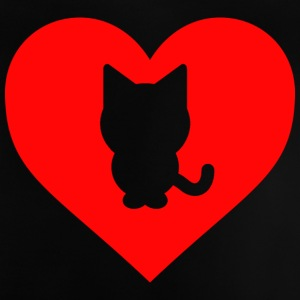 Heart Cat - Camiseta bebé