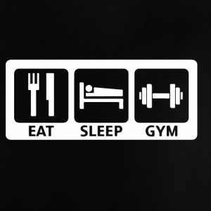 Eat Sleep gym - Baby-T-shirt
