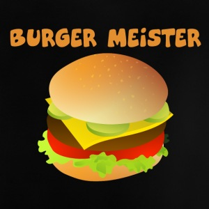 Burger-Meister Motiv Funny shirt for fast food - Baby T-Shirt
