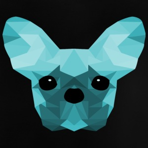 French Bulldog ciano Low Poly design - Maglietta per neonato