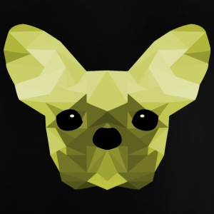 French Bulldog Low Poly Design grønn - Baby-T-skjorte