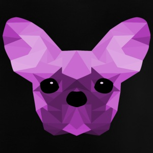 French Bulldog Low Poly Design lilac - Baby T-Shirt