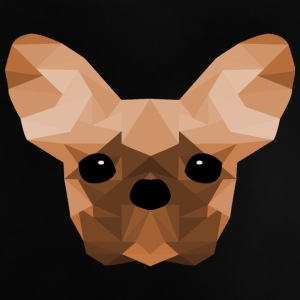 French Bulldog arancione Low Poly design - Maglietta per neonato