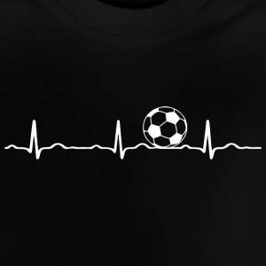 ECG HEARTBEAT voetbal wit - Baby T-shirt