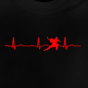 ECG HEARTBEAT rouge DANCING - T-shirt Bébé