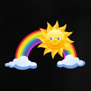 Sun, rainbow, clouds - Baby T-Shirt