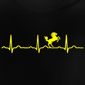 ECG HEARTBEAT HORSE yellow - Baby T-Shirt