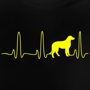 EKG HEART LINE DOG gul - Baby-T-shirt