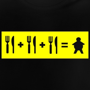 Eat + Eat + Eat = Fat (stencil) - Baby T-Shirt
