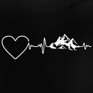 Bjerge Heartbeat 2 - Baby T-shirt