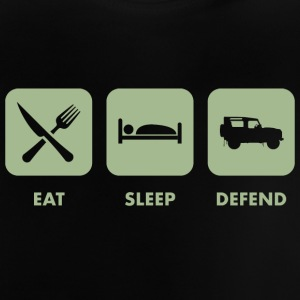 Eat, Sleep & Verteidigung - Baby T-Shirt