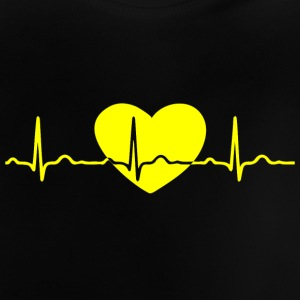 ECG HEART LINE yellow - Baby T-Shirt