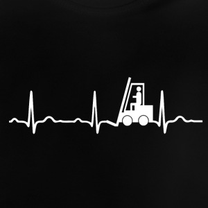 ECG HEARTBAR FORKLIFTS white - Baby T-Shirt