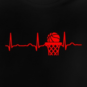 ECG HEARTBEAT BASKETBAL rood - Baby T-shirt