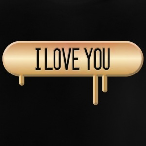 I LOVE YOU 002 allround Design - Baby-T-skjorte