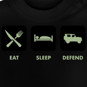Eat, Sleep & Defend - Baby T-Shirt
