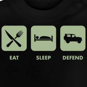 Eat, sleep & defend - Baby-T-shirt