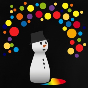 snowman snowman funny colorful balloons children - Baby T-Shirt