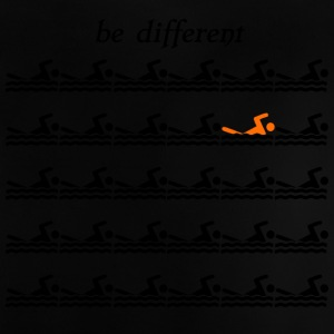 "Swimmershirt swimmers shirt ""be different"" - Baby T-Shirt"