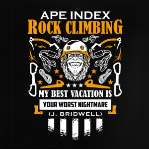 ApeIndex Rock Climbing Orange - Baby T-shirt