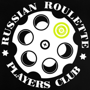 Russian Roulette Players Club logo 4 Sort - Baby-T-skjorte