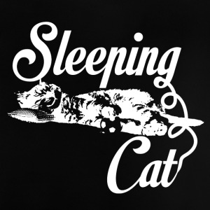 Sleeping cat weiß - Baby T-Shirt