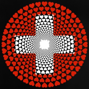 Switzerland Schweiz Swiss Love Herz Mandala - Baby T-Shirt