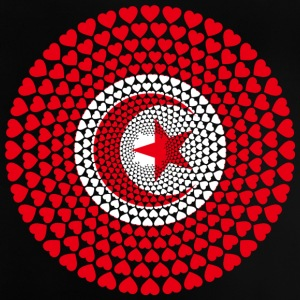 Tunisie Tunisie ⵜⵓⵏⴻⵙ Love Heart Mandala - T-shirt Bébé