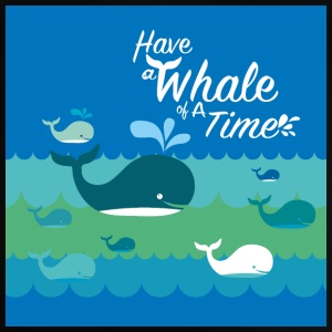 Ha en whale of a time - Baby-T-shirt
