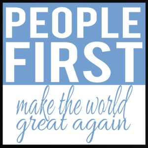 People first - make the world great again - Baby T-Shirt