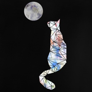 Cat and moon - Baby-T-shirt
