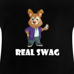 Real Swag hund - Baby-T-shirt
