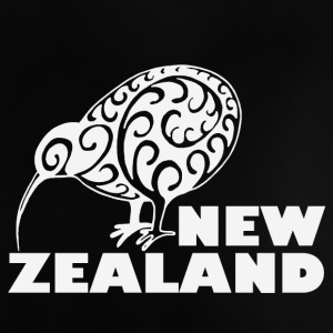 New Zealand: Kiwi with lettering in white - Baby T-Shirt