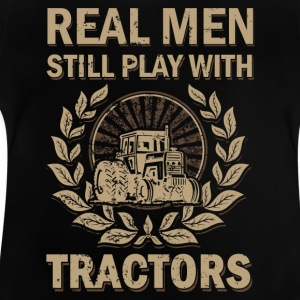 Real mannermouse still playing with tractors - Baby T-Shirt