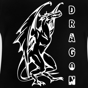 tall standign dragon black - Baby T-shirt