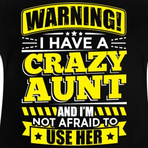Tante ADVARSEL CRAZY tante - Baby T-shirt