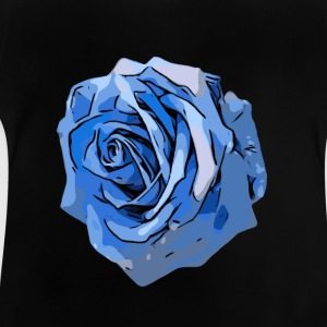 Blue Rose rand - Baby T-shirt