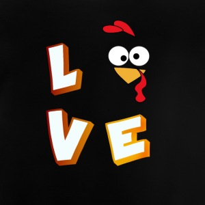 love turkey comic liebe fancy kids Buchstaben - Baby T-Shirt