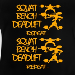 REPEAT powerlifting life - Baby T-Shirt