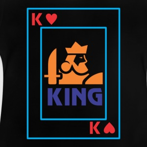 KING-spelkort - Baby-T-shirt