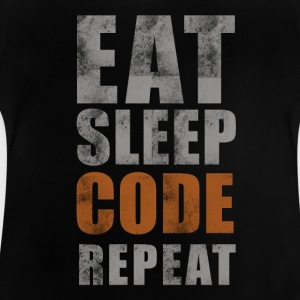 EAT SLEEP REPEAT CODE - T-shirt Bébé