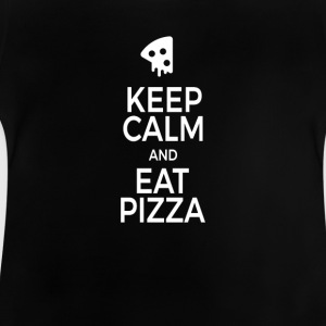 Keep calm and east pizza white - Baby T-Shirt