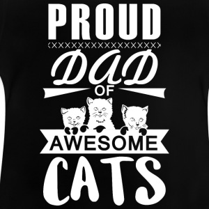 Proud father Cats - Baby T-Shirt
