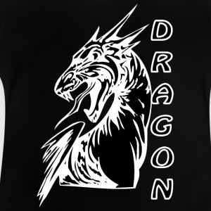 Angry dragon 2 black - Baby T-Shirt