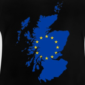 Scotland Map with EU Flag - Baby T-Shirt