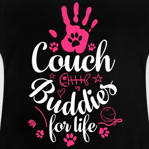 Cat Cat couch buddies - Baby T-Shirt